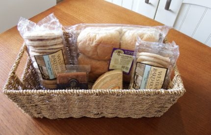 Enjoy a welcome to Orkney basket courtesy of Karen and Kevin