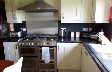 Kitchen with all mod cons so you can enjoy cooking Orkney food